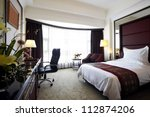 Stock photo hotel bedroom 112874206