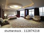 hotel bedroom | Shutterstock . vector #112874218