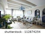 mediterranean style living room | Shutterstock . vector #112874254