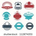 retro vintage label badges | Shutterstock .eps vector #112874353