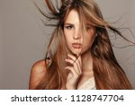 health  people and beauty... | Shutterstock . vector #1128747704