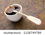 refined molasses in dish | Shutterstock . vector #1128749789
