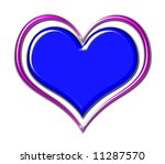 blue chrome heart with purple... | Shutterstock . vector #11287570