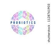 probiotics logo. concept of... | Shutterstock .eps vector #1128761903