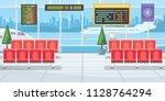 airport with flight departure... | Shutterstock .eps vector #1128764294
