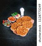 delicious turkish pizza...   Shutterstock . vector #1128773249