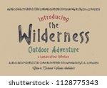 original handmade alphabet.... | Shutterstock .eps vector #1128775343