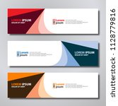 vector abstract design banner... | Shutterstock .eps vector #1128779816