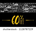 60  off sale word cloud collage ... | Shutterstock .eps vector #1128787229