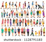 set of isometric people  flat... | Shutterstock .eps vector #1128791183
