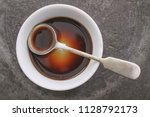worcestershire sauce in dish | Shutterstock . vector #1128792173