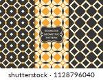 seamless geometric pattern set  ...