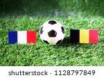 ball with france vs belgium...   Shutterstock . vector #1128797849