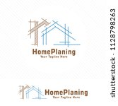 Stock vector architect house logo architectural and construction design vector 1128798263