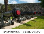 cannons at the royal naval... | Shutterstock . vector #1128799199