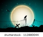 scary halloween background. eps ... | Shutterstock .eps vector #112880044