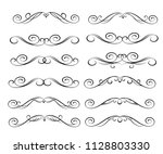 set of decorative elements.... | Shutterstock .eps vector #1128803330