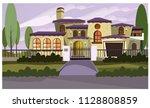 resident house vector... | Shutterstock .eps vector #1128808859