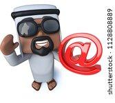 3d render of a funny cartoon... | Shutterstock . vector #1128808889