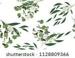 eucalyptus vector. cute... | Shutterstock .eps vector #1128809366