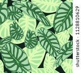 seamless tropical pattern.... | Shutterstock .eps vector #1128810629