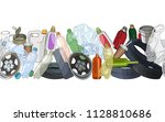 different kinds of garbage.... | Shutterstock .eps vector #1128810686