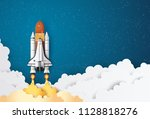 business concept space shuttle ... | Shutterstock .eps vector #1128818276