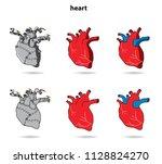 heart iron heart | Shutterstock .eps vector #1128824270