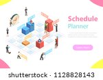 flat isometric vector concept... | Shutterstock .eps vector #1128828143