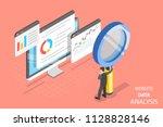 flat isometric vector concept... | Shutterstock .eps vector #1128828146