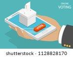 flat isometric vector concept... | Shutterstock .eps vector #1128828170