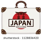 vector travel banner with... | Shutterstock .eps vector #1128836420