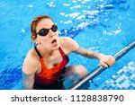 young athlete woman exercising...   Shutterstock . vector #1128838790