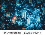 christmas tree decoration... | Shutterstock . vector #1128844244