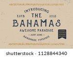 original handmade alphabet with ... | Shutterstock .eps vector #1128844340