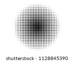 abstract gradient halftone... | Shutterstock .eps vector #1128845390