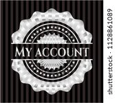 my account silvery shiny badge | Shutterstock .eps vector #1128861089