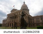 texas state capitol in asutin ... | Shutterstock . vector #1128862058