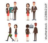 business team at work character ... | Shutterstock .eps vector #1128862169