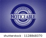 noticeable badge with jean... | Shutterstock .eps vector #1128868370