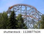 big ferris wheel in an... | Shutterstock . vector #1128877634