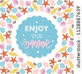 "phrase ""enjoy the summer""... | Shutterstock .eps vector #1128887639"