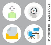 simple 4 icon set of business... | Shutterstock .eps vector #1128887726