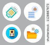 simple 4 icon set of business... | Shutterstock .eps vector #1128887873