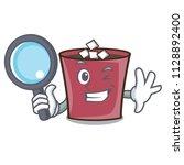 detective hot chocolate... | Shutterstock .eps vector #1128892400