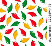 peppers on white background | Shutterstock .eps vector #1128894476