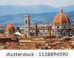 view of santa maria dei fiori... | Shutterstock . vector #1128894590
