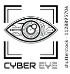 eye scan vector icon  cyber... | Shutterstock .eps vector #1128895706