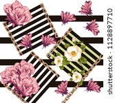 flowers pattern. for textile ... | Shutterstock . vector #1128897710
