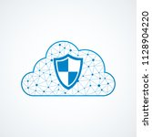 technology shield icon | Shutterstock .eps vector #1128904220